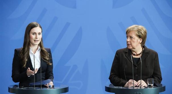 芬蘭總理訪問德國