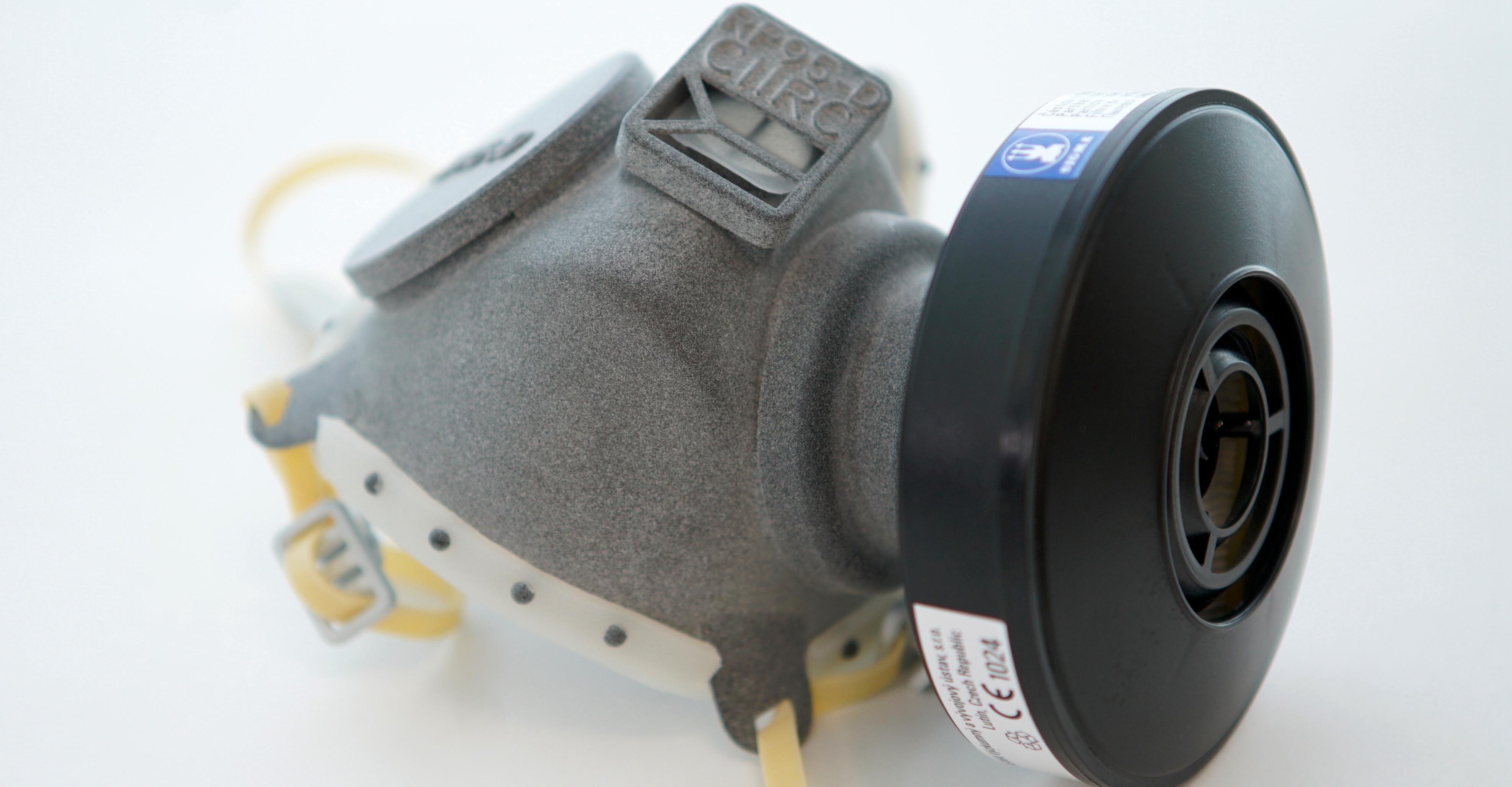 捷克利用3D打印技術制作口罩