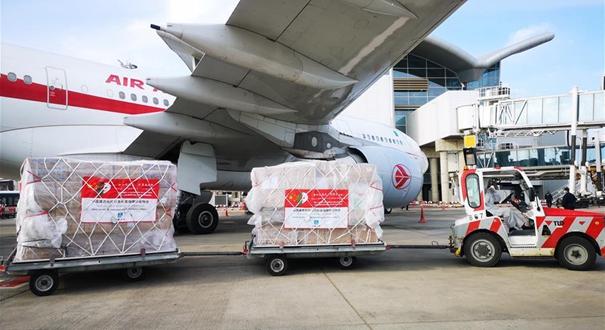 中國捐贈防疫物資抵達阿爾及利亞