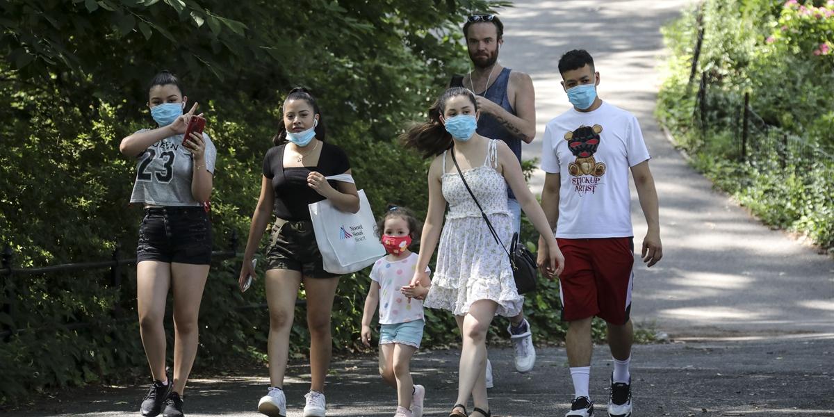 疫情之下 紐約中央公園客流減少