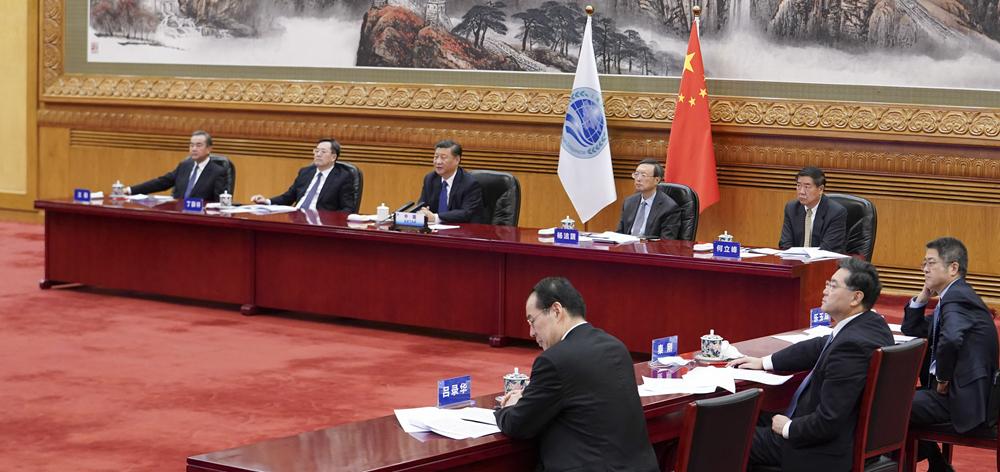習近平出席上海合作組織成員國元首理事會第二十次會議並發表重要講話