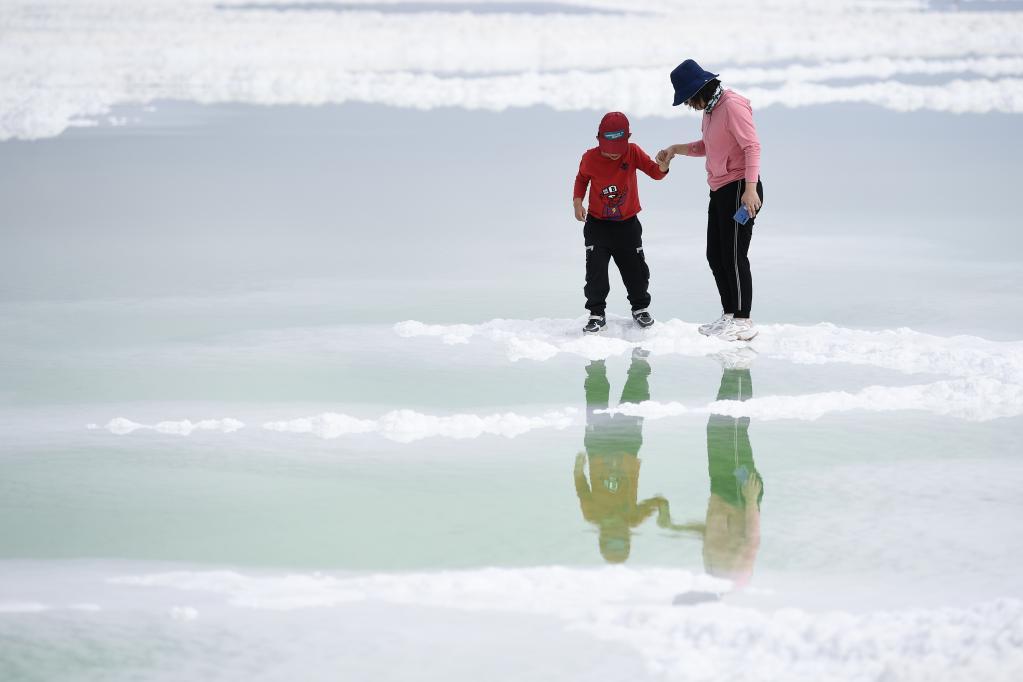高原鹽湖引客來