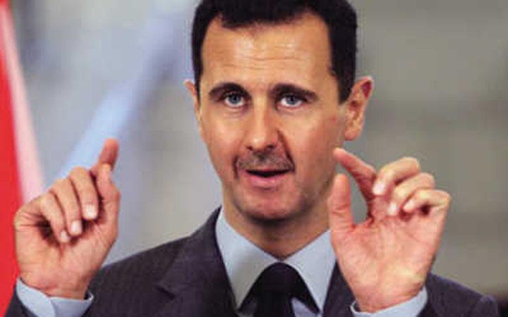 巴沙尔/叙利亚总统巴沙尔阿萨德4月21日在首都大马士革接待一个...