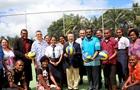 中國援建排球場造福斐濟社區民眾