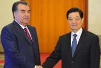 胡錦濤舉行儀式歡迎塔吉克斯坦總統訪華