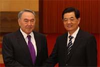 胡錦濤同哈薩克斯坦總統舉行會談