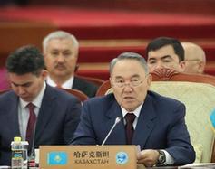 上海合作組織成員國元首理事會第十二次會議舉行大范圍會談