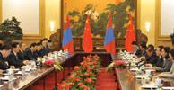 胡錦濤與蒙古國總統額勒貝格道爾吉舉行會談