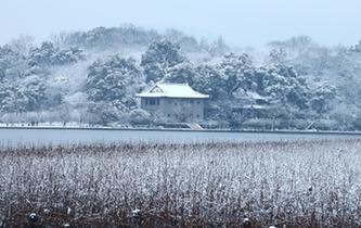 一夜風雪 杭州西湖美如畫