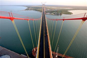 非洲主跨徑最大懸索橋通車在即