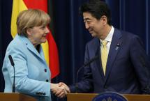 日本首相安倍晉三會見德國總理默克爾