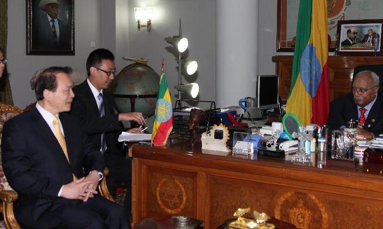埃塞俄比亞總統吉爾馬會見新華社總編輯何平