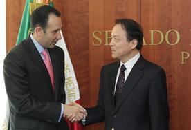 墨西哥參議長希爾會見中國新華社總編輯何平
