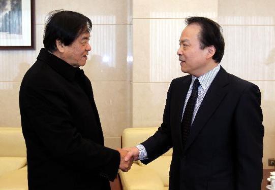 何平會見馬來西亞世界華文媒體集團主席張曉卿