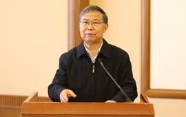 中国记协党组成员祝寿臣在成立大会上发言